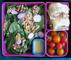 Arugula and Walnut Salad (Laptop Lunches) Tags: apple tomato menu lunch laptop bento strudel arugula broughtmylunch