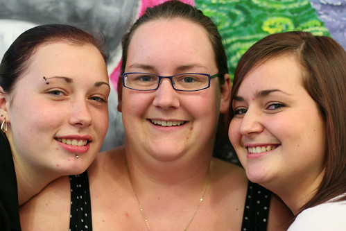 Shirley Malone, Gemma ONeill and Aimee Coakley of the Hawkesley Young Volunteers in Kings Norton - Birmingham.