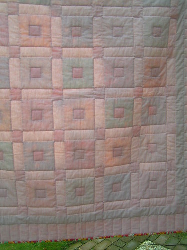 the back of the quilt