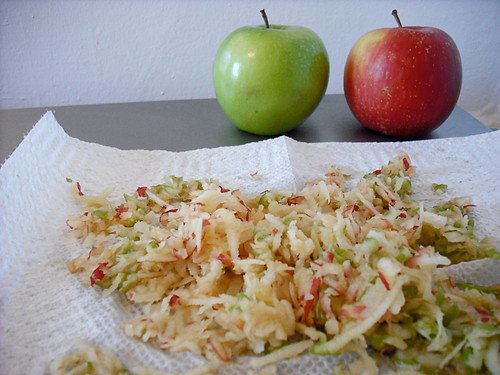 shredded apples