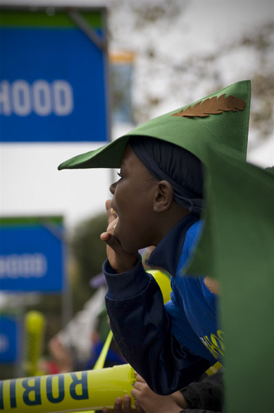 The Robin Hood Foundation kids provided a pick-me-up at mile 20 just as a lot of runners were hitting the wall.