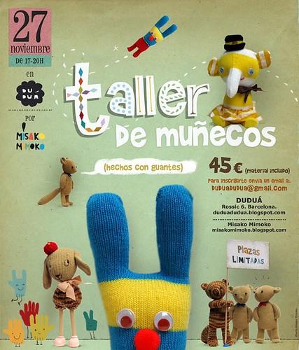Taller de muñecos de Misako Mimoko en Duduá