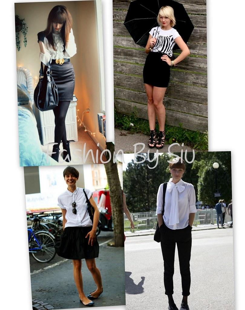 siyah-beyaz kıyafetler