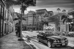 jaguar in beverly hills black and white version (Kris Kros) Tags: photoshop photography high dynamic kris 90210 range hdr kkg cs4 kros kriskros kkgallery