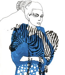 when cebra goes to hollywood (pintaycolorea) Tags: blue black paris love fashion illustration cebra pintaycolorea pato