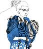 when cebra goes to hollywood (pintaycolorea) Tags: blue black paris love fashion illustration cebra pintaycolorea pato™