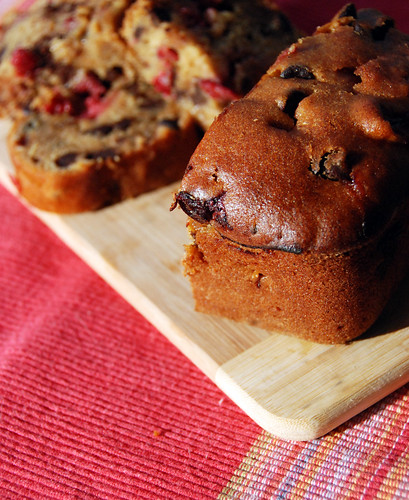 Cranberry Chocolate Pumpkin Loaf