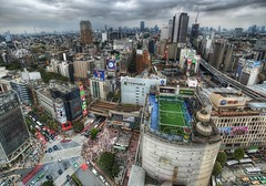 Tokyo from the Air (Stuck in Customs) Tags: from road street city travel urban color building field station japan skyscraper train court lost photography tokyo football high nikon october asia downtown cityscape crossing dynamic stuck outdoor unique soccer air elevator shibuya fast railway pedestrian special translation photograph pitch metropolis ward range 2009 hdr trey furious yamanote scramble customs drift futsal hachiko simcity ratcliff hachik stuckincustoms d3x impressedbeauty