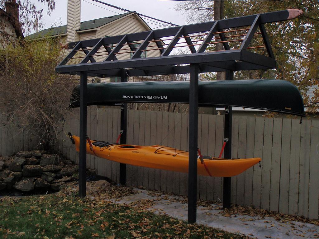 My Quirky Canoe/kayak Storage Rack | My Kayaking Buddies