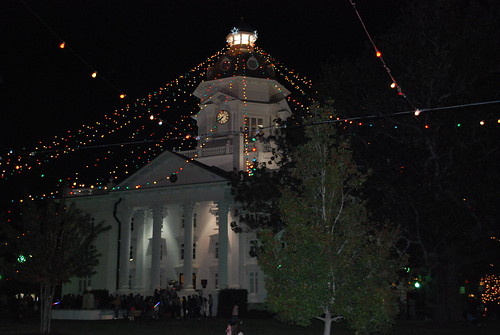 Moultrie Christmas lights downtown at courthouse