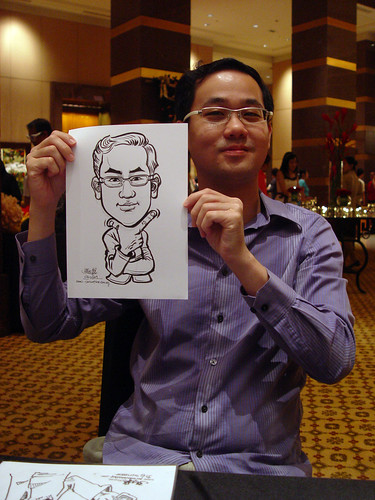 Caricature live sketching for Hitachi Plant Technologies D&D 2009 - 3