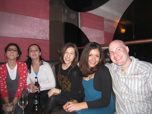 (from right) Dave, Danielle, Leslie, Stacey, and Alisha
