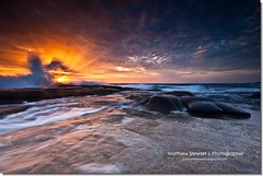 Optimistic (Matthew Stewart | Photographer) Tags: ocean light sea sky reflection beach water clouds sunrise point movement rocks shoot matthew australia stewart qld queensland cartwright sunsrise