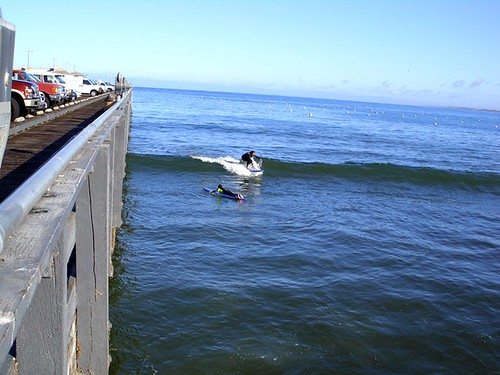 Surfing in Monterey