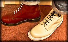 White and Red Docs (CWhatPhotos) Tags: pictures original red white man black male feet yellow by canon that lens rouge boot foot eos rebel photo shoes with martin boots photos lace dr air acid picture taken wear fisheye using have doctor adobe stitching manual comfort doc martins cushion marten soles blanc manualfocus docs laces drmartens bouncing xsi airwair lightroom fisheyelens docmartens docmartin martens dms f35 65mm docmartins aspherical 8hole opteka resistant cushioned fisheyeview wair 450d paintshopprophotox2 yellowstitching rebelxsi opteka65mm cwhatphotos laceed