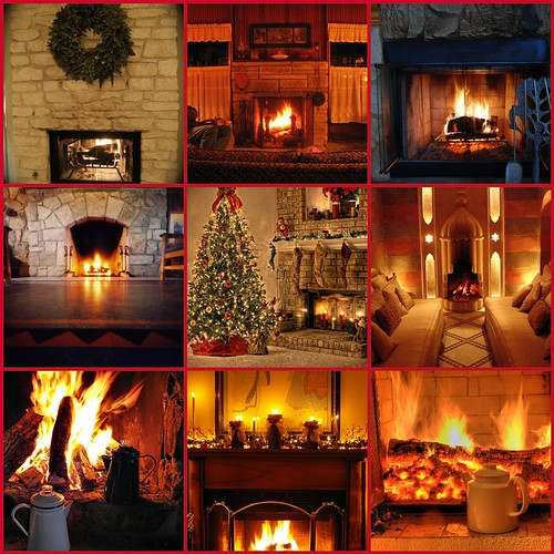 day 12 ~ a fire in the fireplace makes all right with the world...