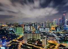 CBD shot from 50th floor. (Reggie Wan) Tags: urban skyline night singapore asia southeastasia chinatown aerialview soe birdseyeview nightscenery twop southbridgeroad newbridgeroad thepinnacleduxton sonya700 reggiewan pinnacleatduxton 50storey