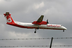 Air Berlin D-ABQE (Howard_Pulling) Tags: uk flughafen essex stansted stn dhc airberlin stanstedairport dhc8 dhc8400 dabqe