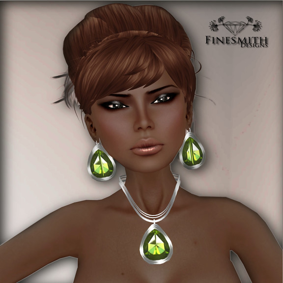 Peridot Necklace and earrings