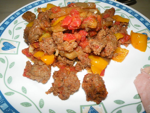 Eggplant with ground beef