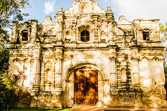 Shadow Church (BradPerkins) Tags: guatemala abandoned abandonedchurch shadows urbanlandscape urbandecay decay discardedbutnotforgotten thanksgiving2016 urban travel antigua sunshine lines trip village church sun