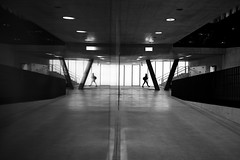 \/i     i\/ (maekke) Tags: zürich oerlikon sbb trainstation bw noiretblanc architecture underground symmetry reflection streetphotography silhouette fujifilm x100t 2017 night switzerland ch 35mm