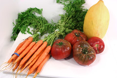 melon tomatoes carrots