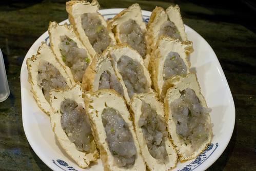 Shrimp Stuffed Tofu raw