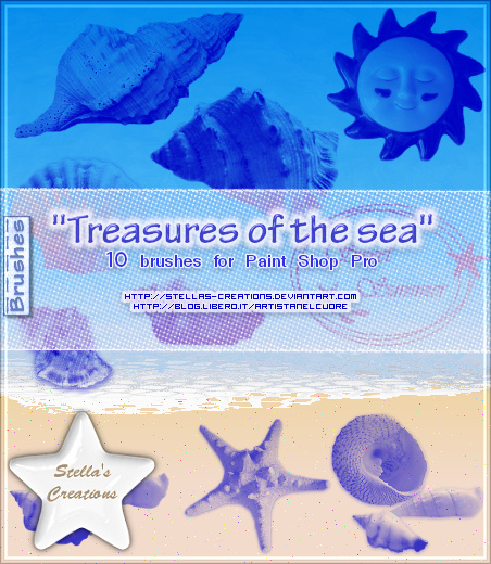 Treasures of the sea Brushes - © Blog Stella's Creations: http://sc-artistanelcuore.blogspot.com