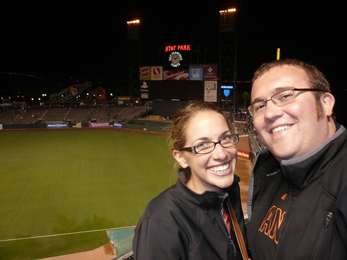 pam and i at the giants game
