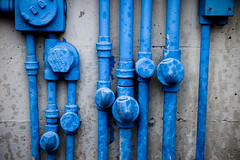 blue pipes (eb78) Tags: sf sanfrancisco california ca blue urban abstract san francisco industrial pipes urbanexploration ue dogpatch urbex industrialdecay