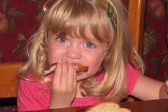 Catie loves her PB&J sandwiches