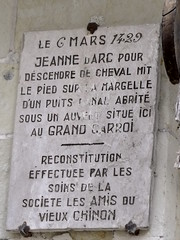 Photo of Jeanne d'Arc stone plaque