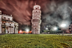leaning tower of pisa | torre di pisa | italia | italy - night  hdr