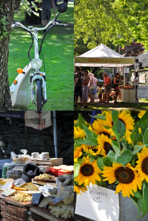 newport farmer's market collage