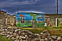 (santimedin) Tags: espaa campo monte pintada hdr santander cantabria caseta chabola maruca