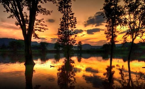 Livingston Lake at Sunset