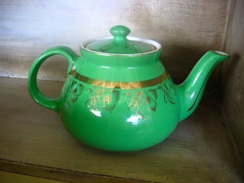 Emerald/Gold vintage teapot - 1920s