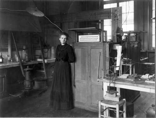 Madame Curie in her laboratory. Presented to Martha Van Rensselaer upon the occasion of ...