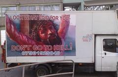 Jesus Van (Darren Cullen) Tags: jesus hell christians maniacs sodom scaremongering