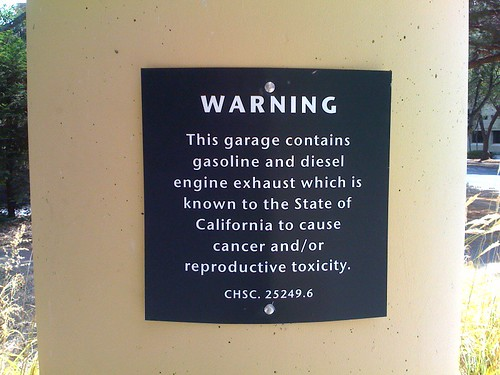 garage toxic warning
