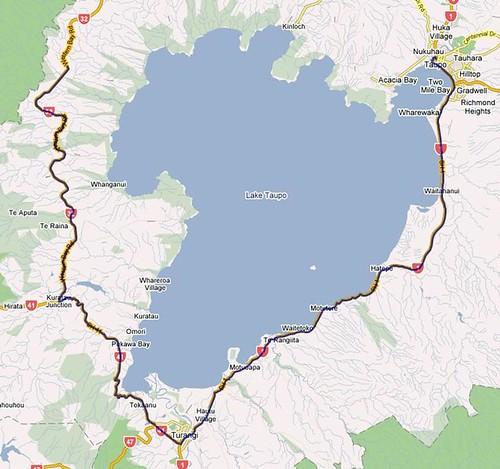 Taupo 100k Map