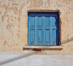 Distressed Shutters (Cirrusgazer) Tags: blue mediterranean village traditional greece crete shutters weathered distressed