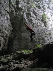Jump (>Maja<) Tags: jump rocks skocjan kocjan