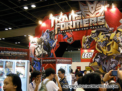 The very popular Transformers booth