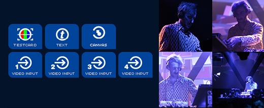4x live camera input