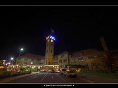 Union Station at Night - HDR (David Gn Photography) Tags: oregon portland nightshot amtrak trainstation pdx unionstation hdr gobytrain photomatix passengerpickup sigma1020mmf35exdchsm canoneosrebelt1i