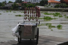 sausages drying on a dock
