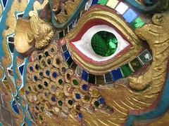 Dragon Eye (Palejewel84) Tags: blue red green eye colors thailand gold asia southeastasia dragon chiangmai aasia ih naga earthasia