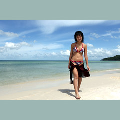Happy birthday to my dearest Fiona! (JannaPham) Tags: ocean trip travel blue light sea sky cloud holiday beach canon island eos sand peace sweet daughter vietnam 5d fiona sao phuquoc calmness markii kiengiang birthday project365 happy jannapham beautifulfiona dearestfiona lindajvem